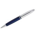 Calais – Chrome/ Blue Ballpoint Pen