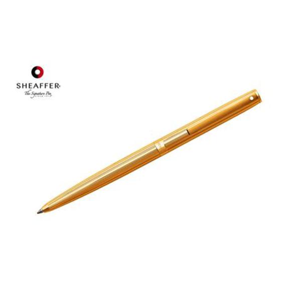 """Sagarisâ""""¢ - Fluted Gold Tone Cap and Barrel Ballpoint Pen"""