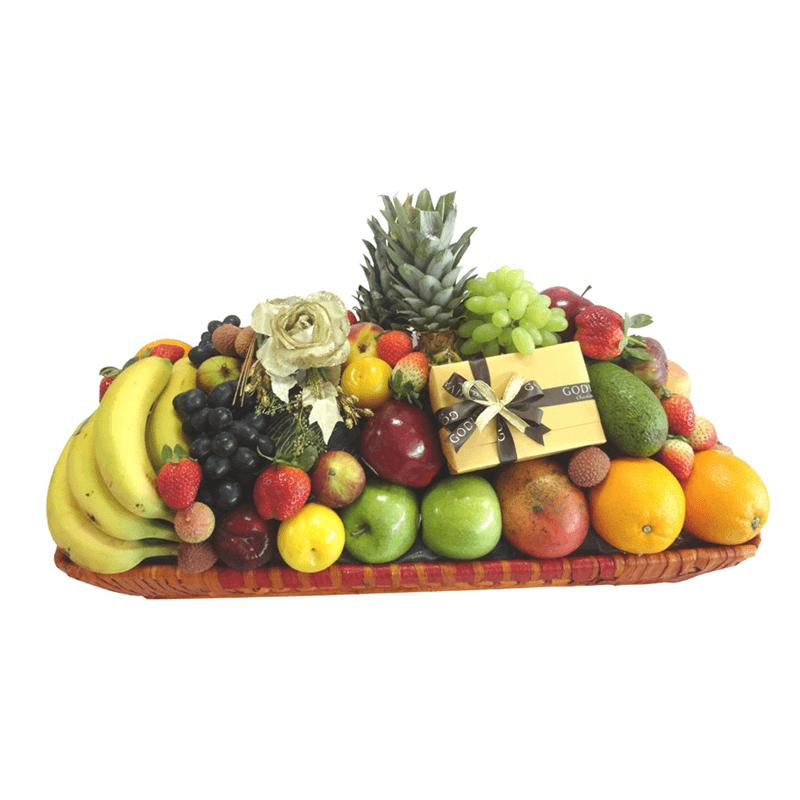 VIP Fruit Basket and Godiva Chocolates