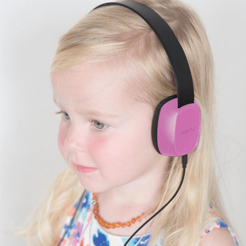 KENU Groovies Kids Stereo Headphones Pink