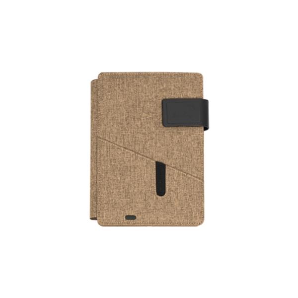 Powerbank Tablet Portfolio Brown Color