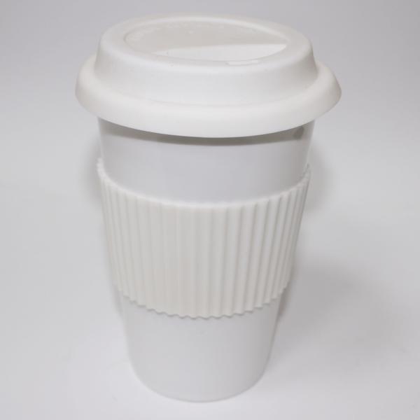 Ceramic Mug White Mug With Lid & Holder