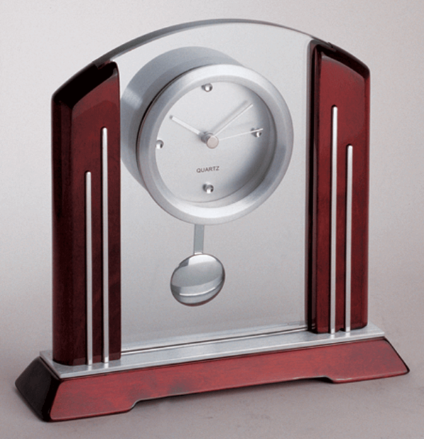 Wood & Glass Pendium Clock