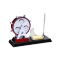 Roated Desk Clock Set With Thermometer & Hydro