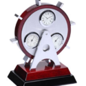 Rotated Desk Clock Set With Temp & Hyd