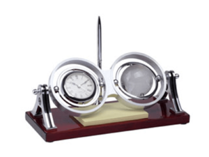 Desck Clock Set With Crystal Globe S