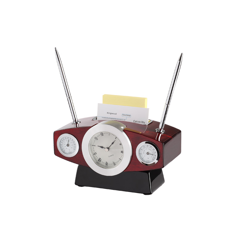 Desk Clock With Thermometer &hydro