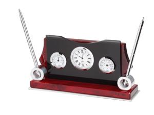 Desk Clock With Pen