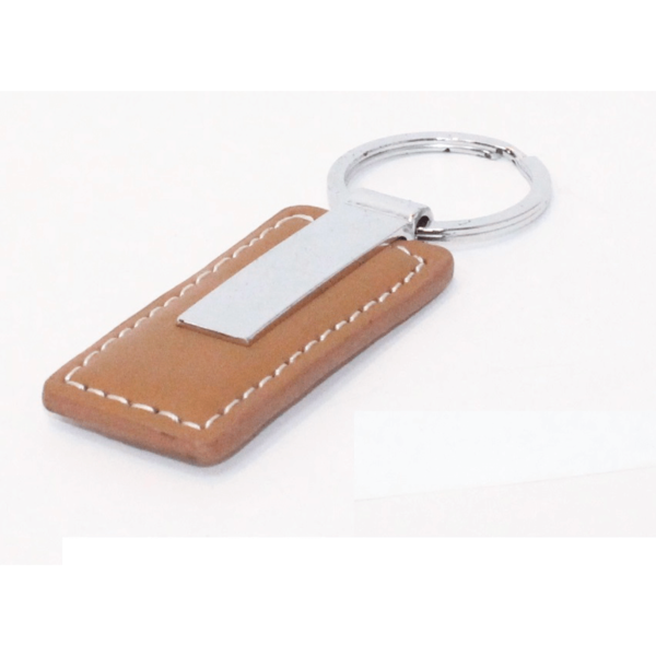 Leather Key Chain Brown
