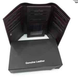 Leather Jacket Wallet Goat Glaze With Blk