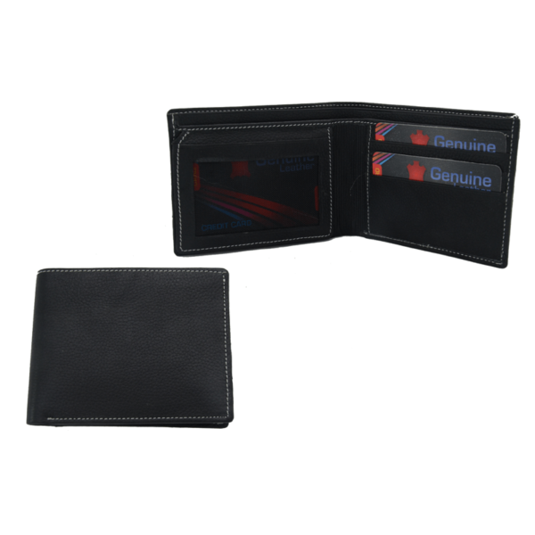 Leather Gents Wallet With Black Box