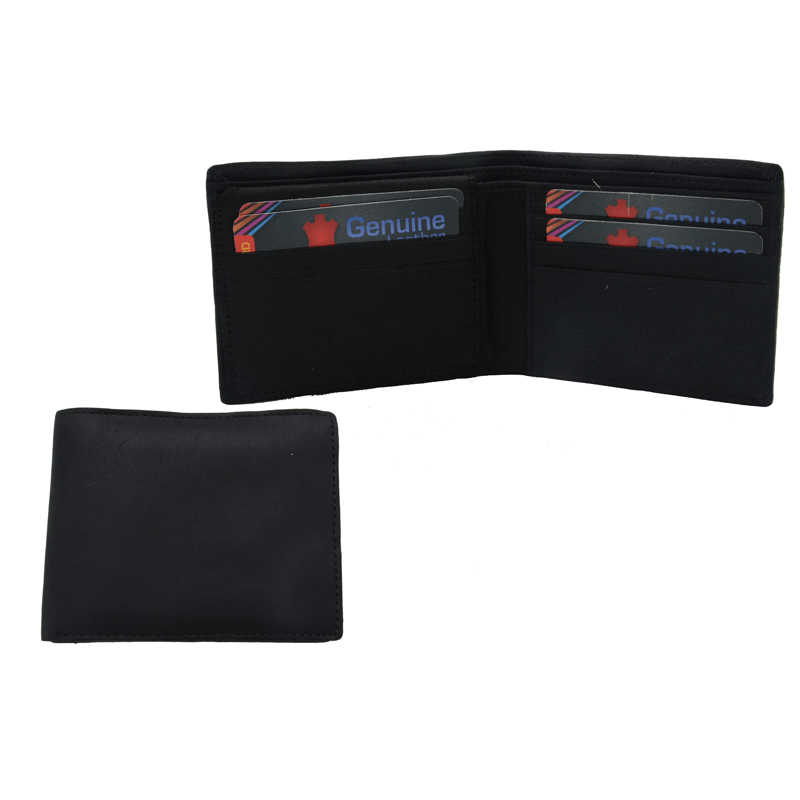 Black Leather Gents Wallet