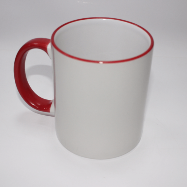 Sublimation Red Rim Mug