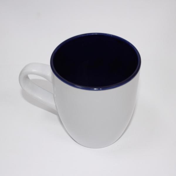 Sublimation Mug Inner Blue/white Outside