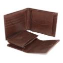 Pu Gents Wallet, Card Holder Set Brn With Khaki Box