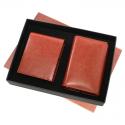 Pu Gents Wallet , Ladies Walletset Tan With Box