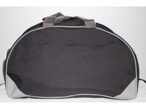 Pu Matty Gym Bag With Shoe Compartment Black