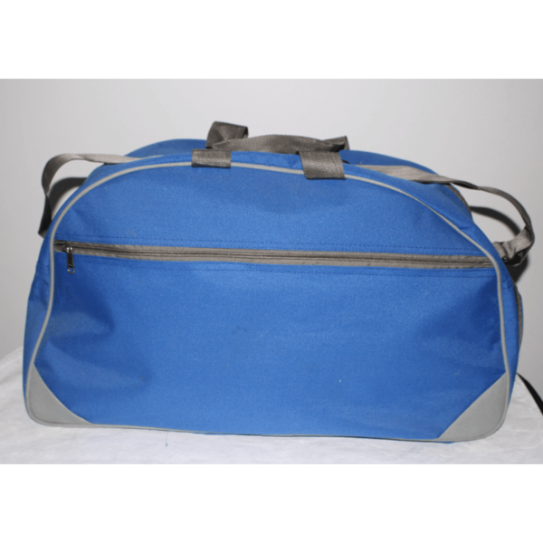 Pu Matty Gym Bag With Shoe Compartment Blue