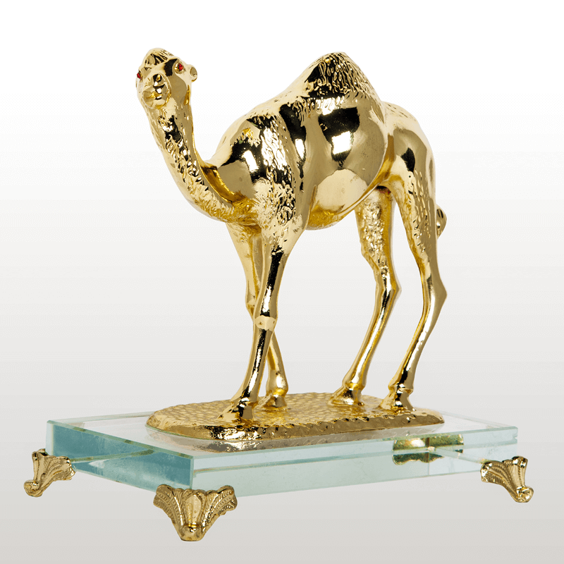 Metal Camel With Crystal Box