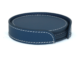 Leather Round Blue With Box Blk