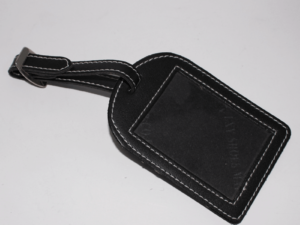 Leather Name Tag Black
