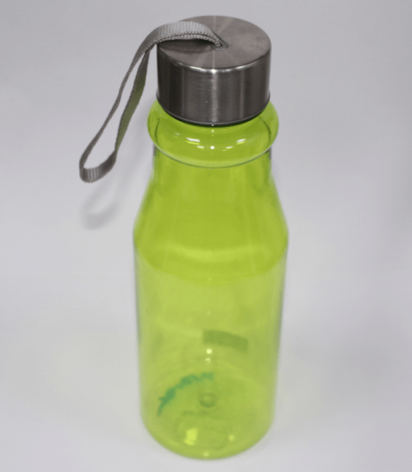Plastic Bottle With Steel Cap Green 750ml