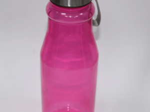 Plastic Bottle With Steel Cap Pink 750ml