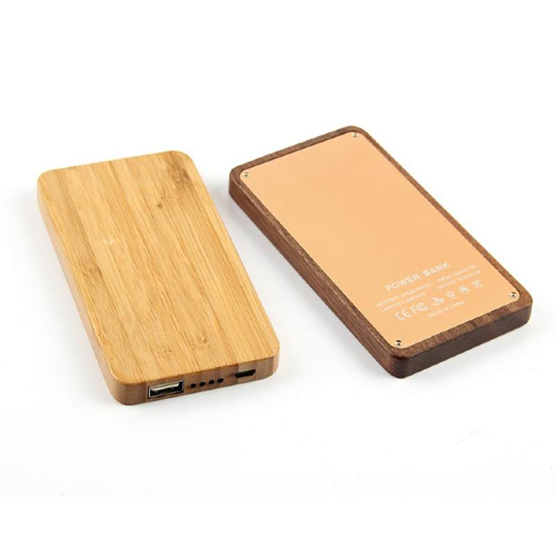 Wooden Power Bank 7800mah