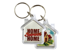 House Shaped Acrylic Keychain