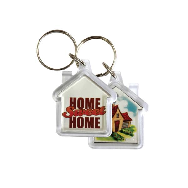 House Shaped Acrylic Keychain
