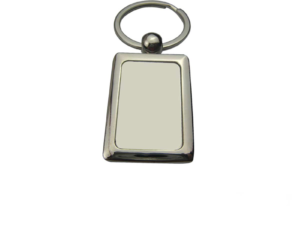 Rectangular Metal Key Chain