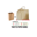 Twisted Handle Kraft Paper Bags