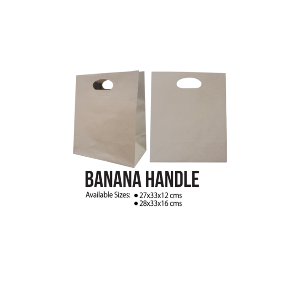 Banana Handle Kraft Paper Bags