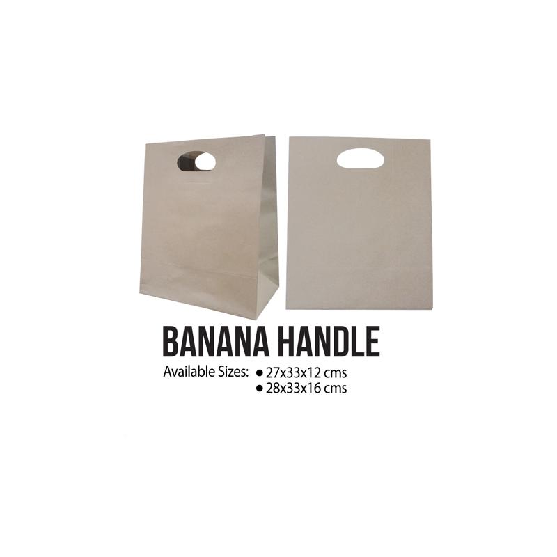 Banana Handle Kraft Paper Bags