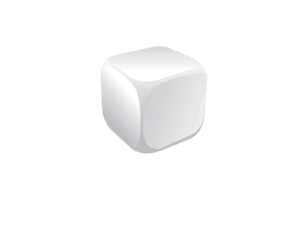 Cube White Stress Ball