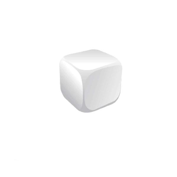 Cube White Stress Ball