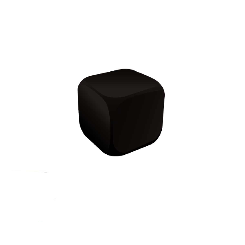 Cube Black Stress Ball