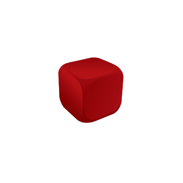 Cube Red Stress Ball
