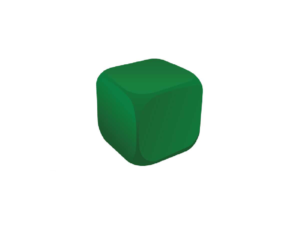 Cube Green Stress Ball