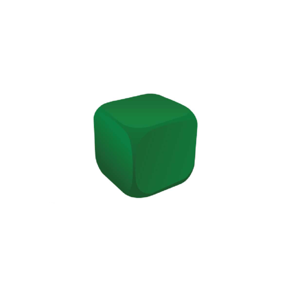 Cube Green Stress Ball