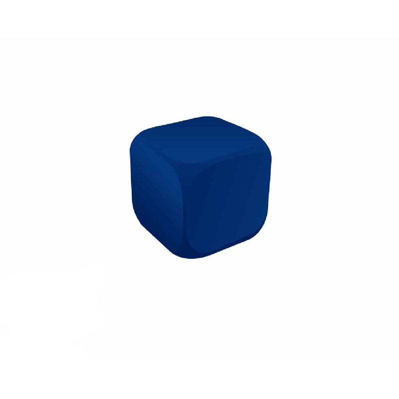 Cube Blue Stress Ball