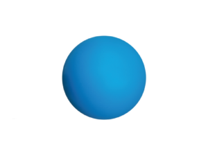 Round Aqua Blue Stress Ball