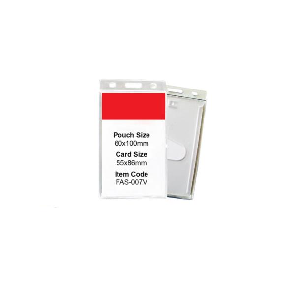 Rigid Id Card Holder - Vertical
