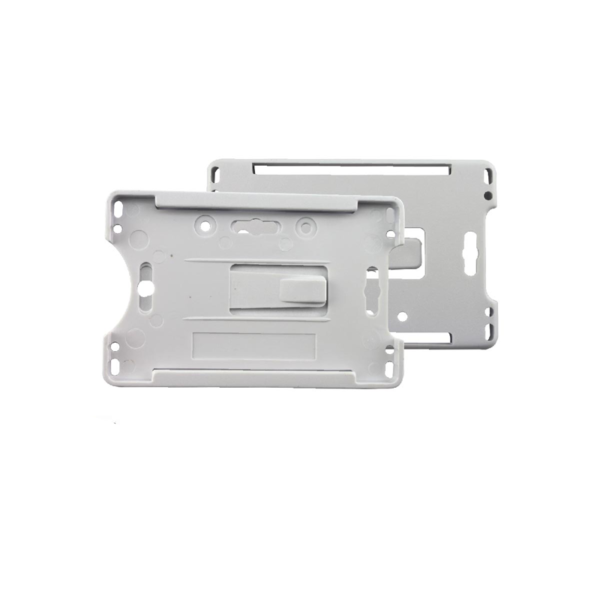 Front Open White Id Holder