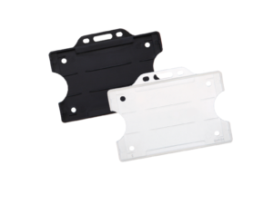 Front Open Plastic Card Holders
