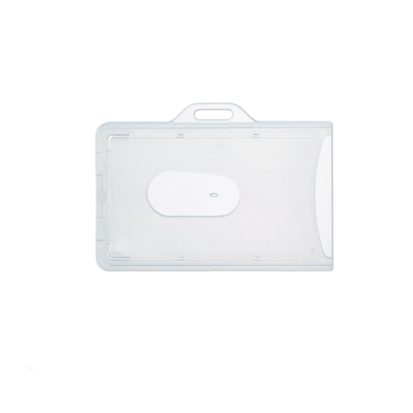 Rigid Pvc Id Card Holder - Horizontal