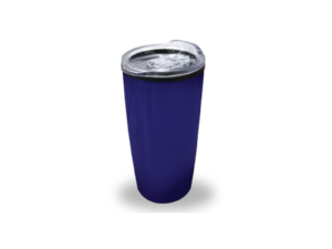 Double Wall Travel Mugs with Clear Lid - Dark Blue Color