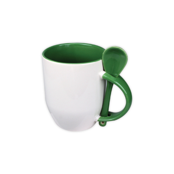 Mugs with spoon - Green