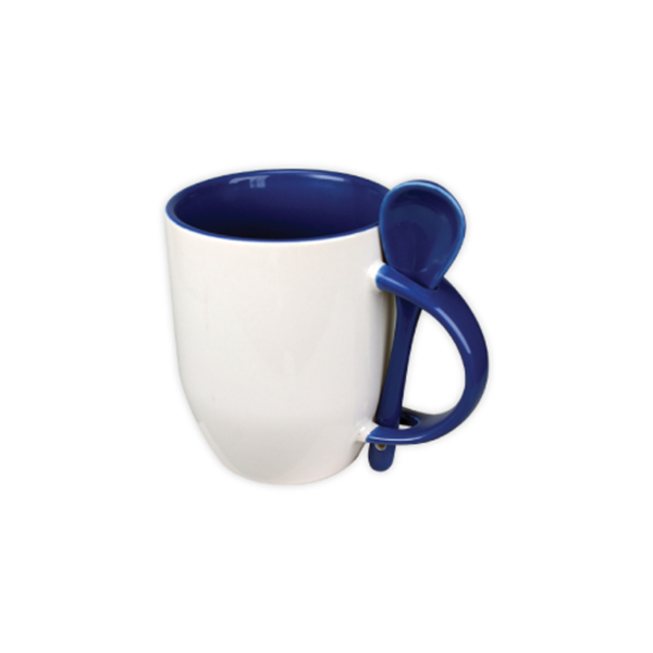 Mugs with spoon - Blue