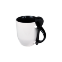 Mugs with spoon – Black